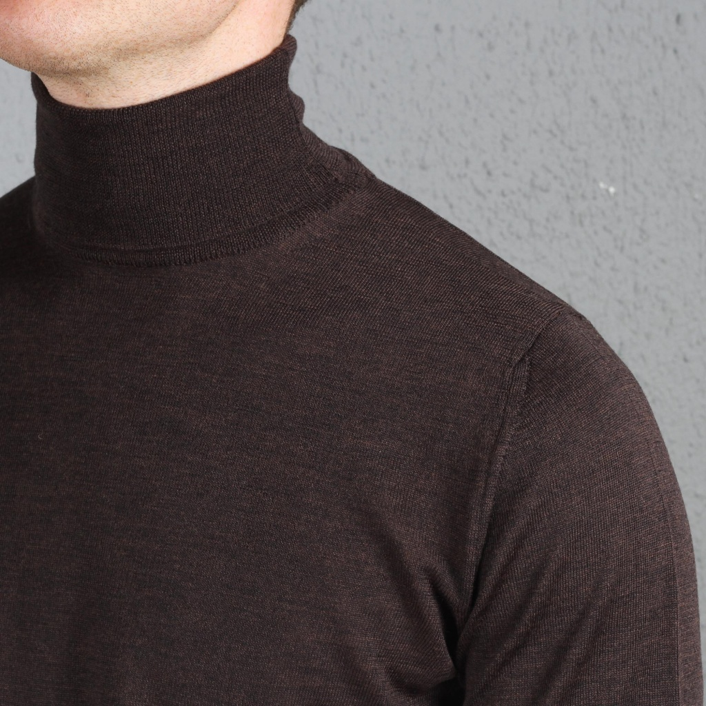Morgano Rollneck Merino Brown