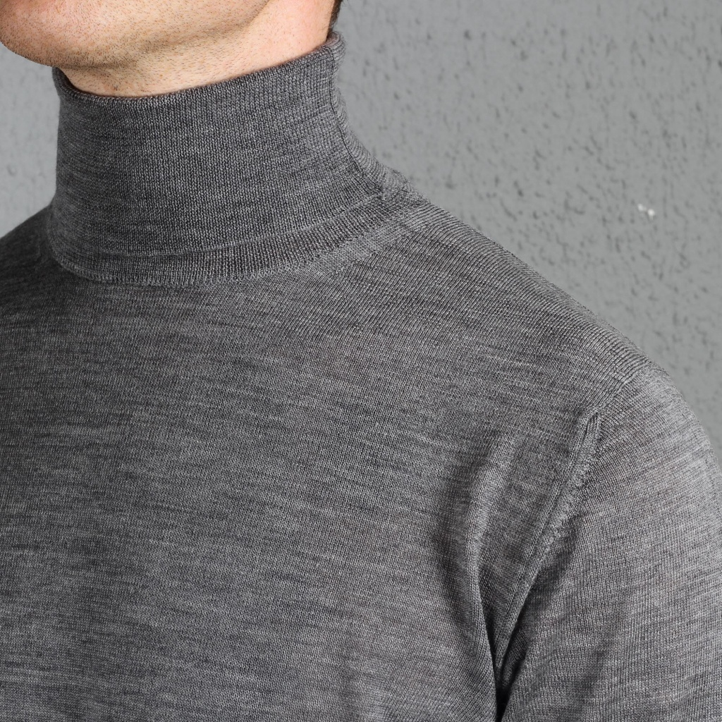 Morgano Rollneck Merino Grey