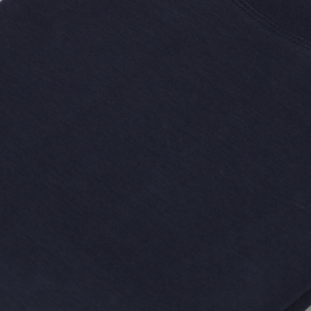 Sunspel Brushed Cotton Mock Neck T-Shirt Navy