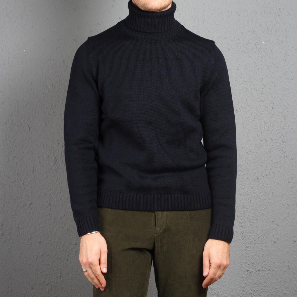 Zanone Virgin Wool Rollneck Navy