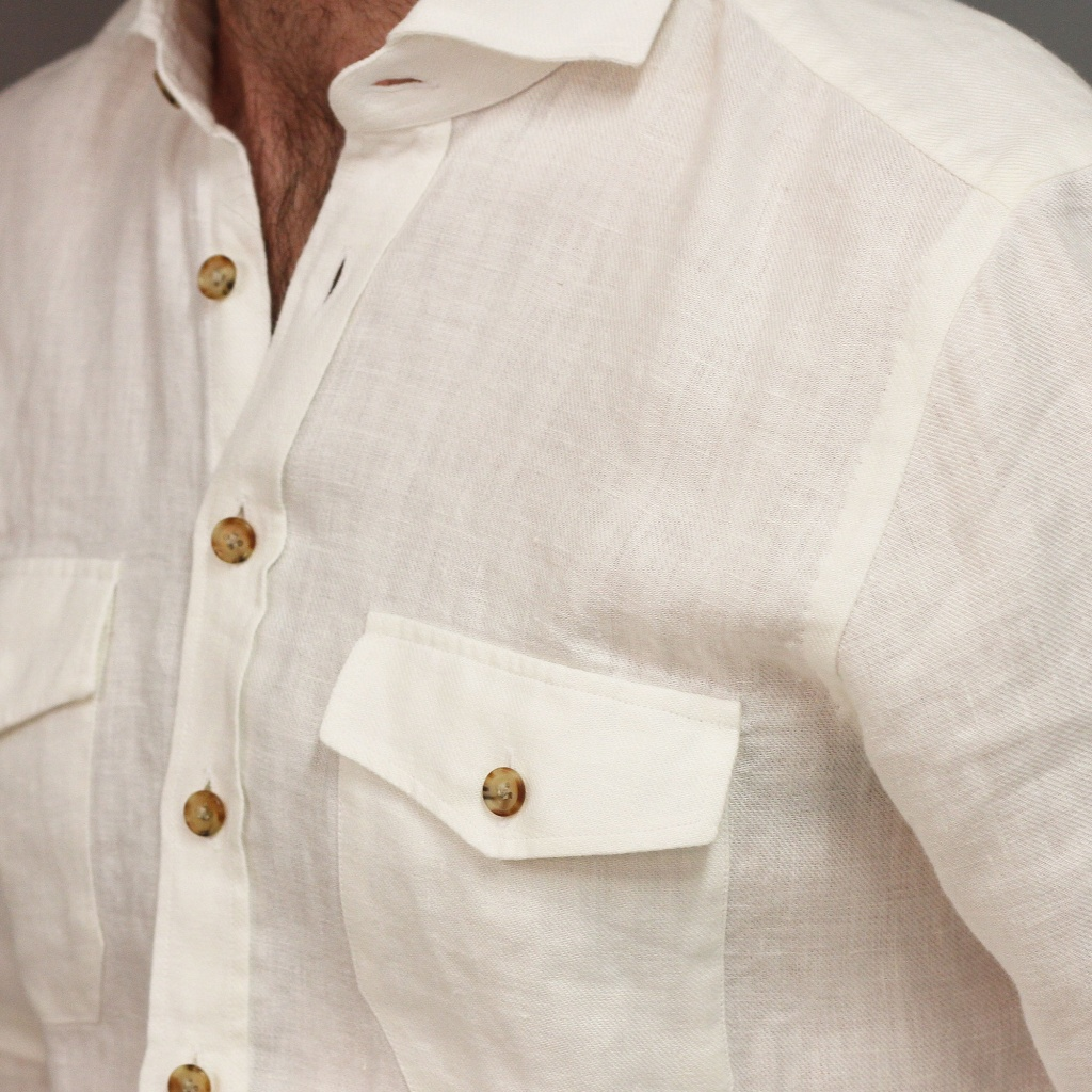 Barba Shirt Linen Twill Cream