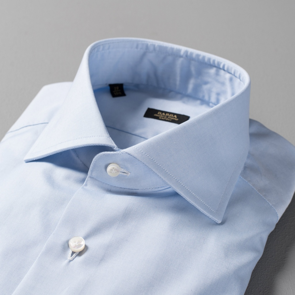 Barba Shirt Light Blue Pinpoint Oxford