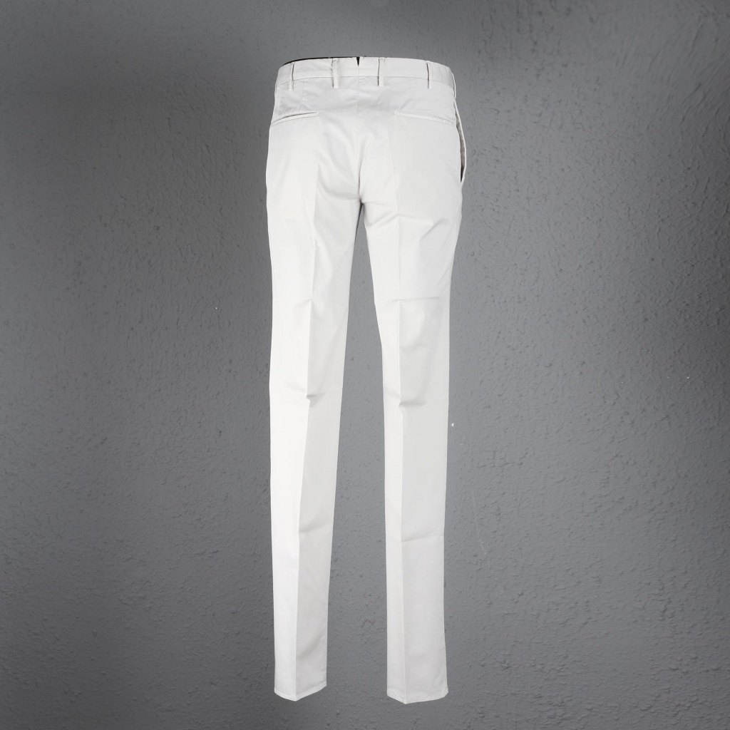 Incotex Ivory Lightweight Skin Fit Trousers