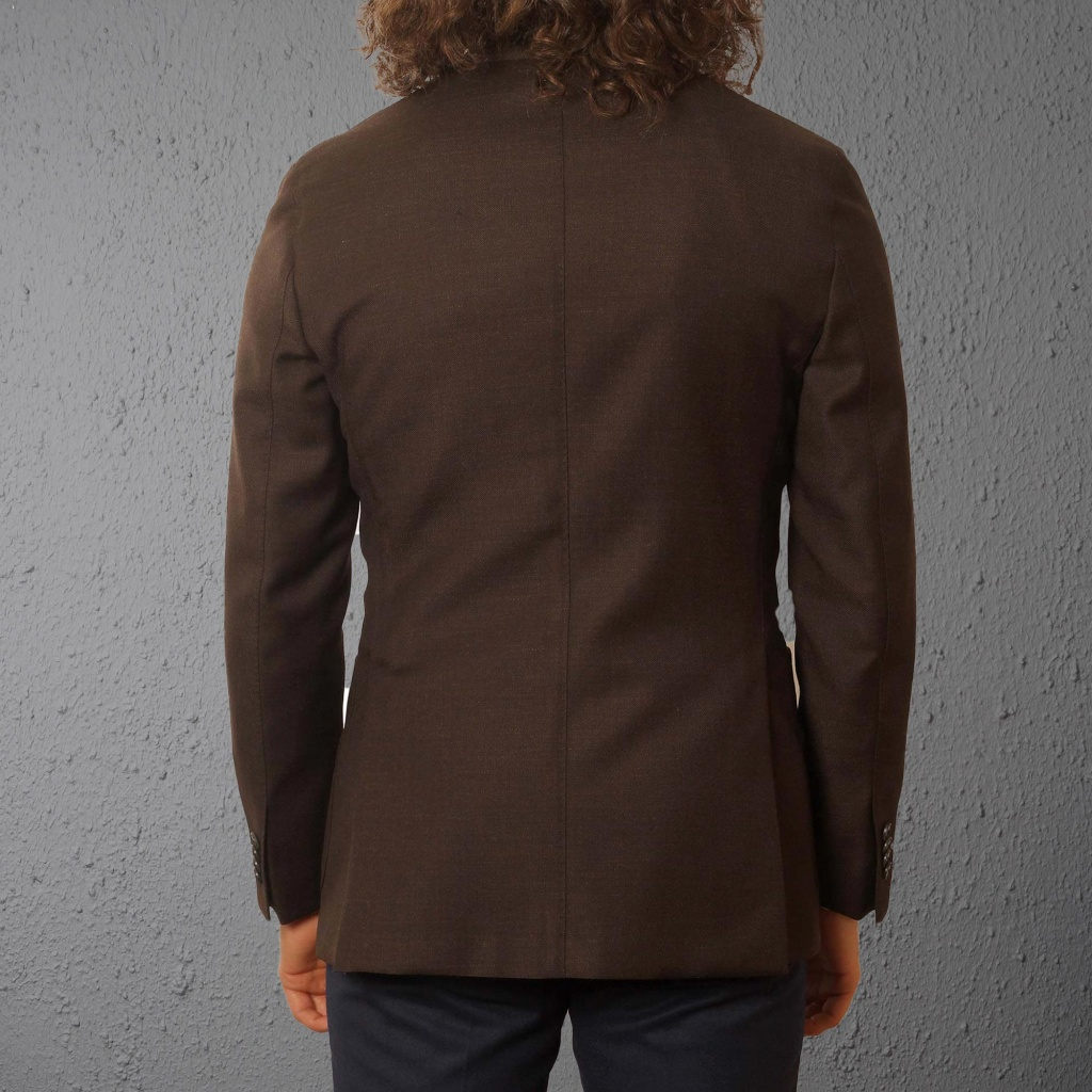 Boglioli Jacket Dark Brown Wool Mohair