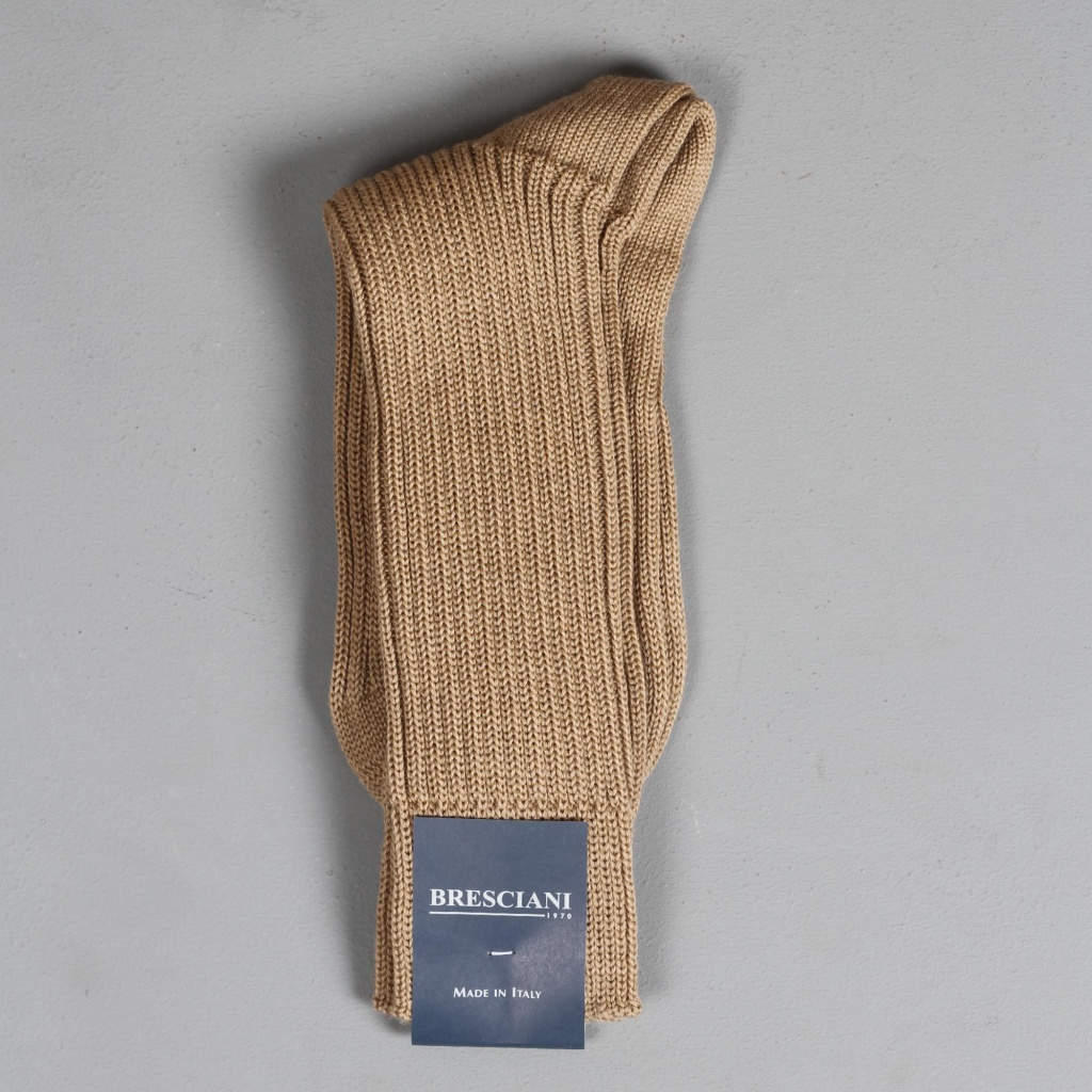 Bresciani Heavy Knit Sock Camel