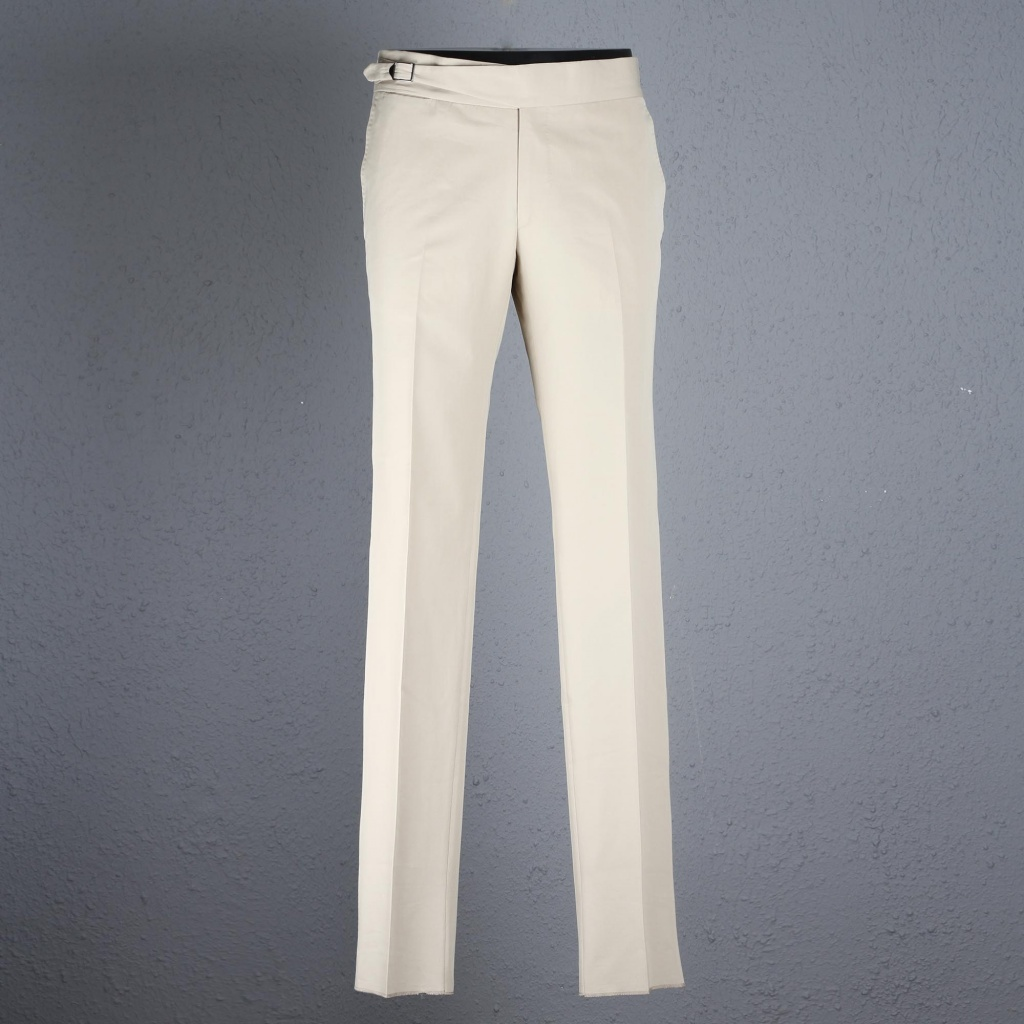 Gaiola Sand Cotton Trouser With Buckle