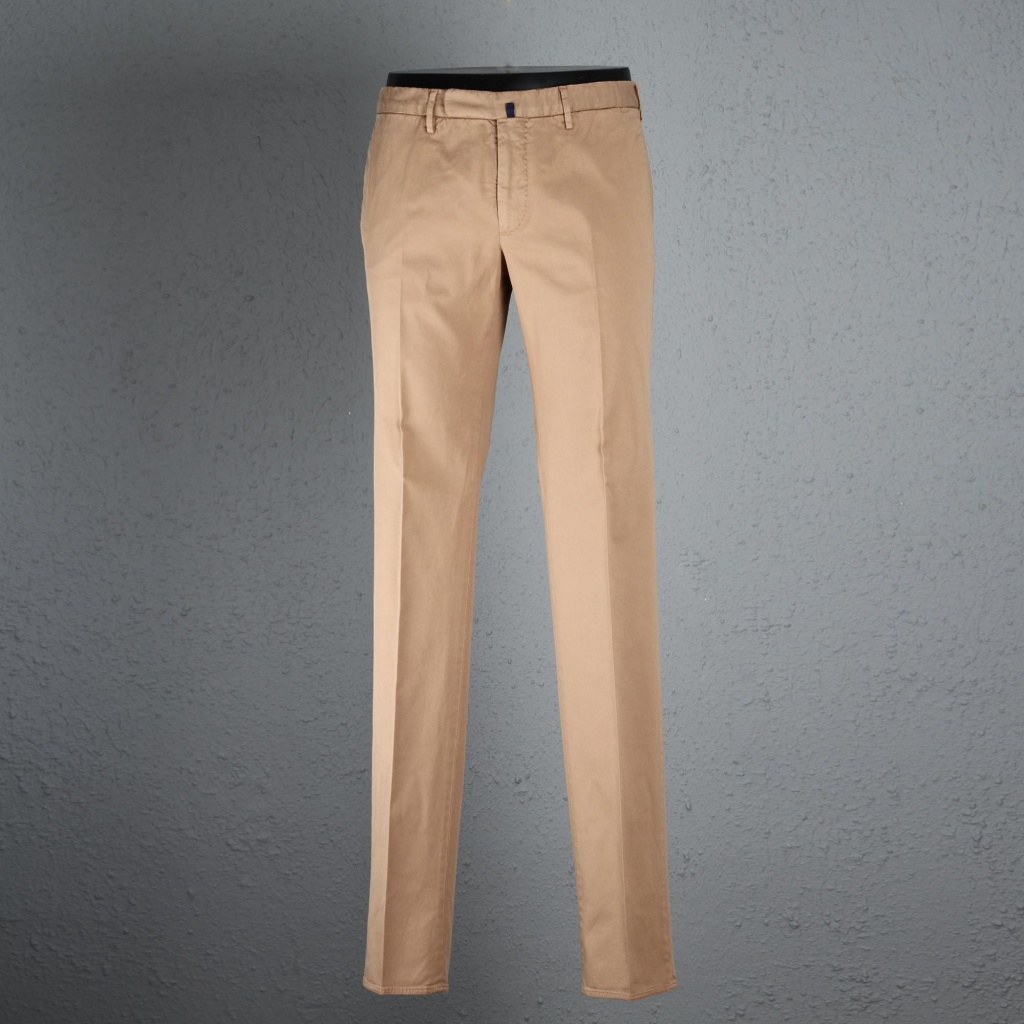 Incotex Trouser Tobacco Cotton Skin Fit