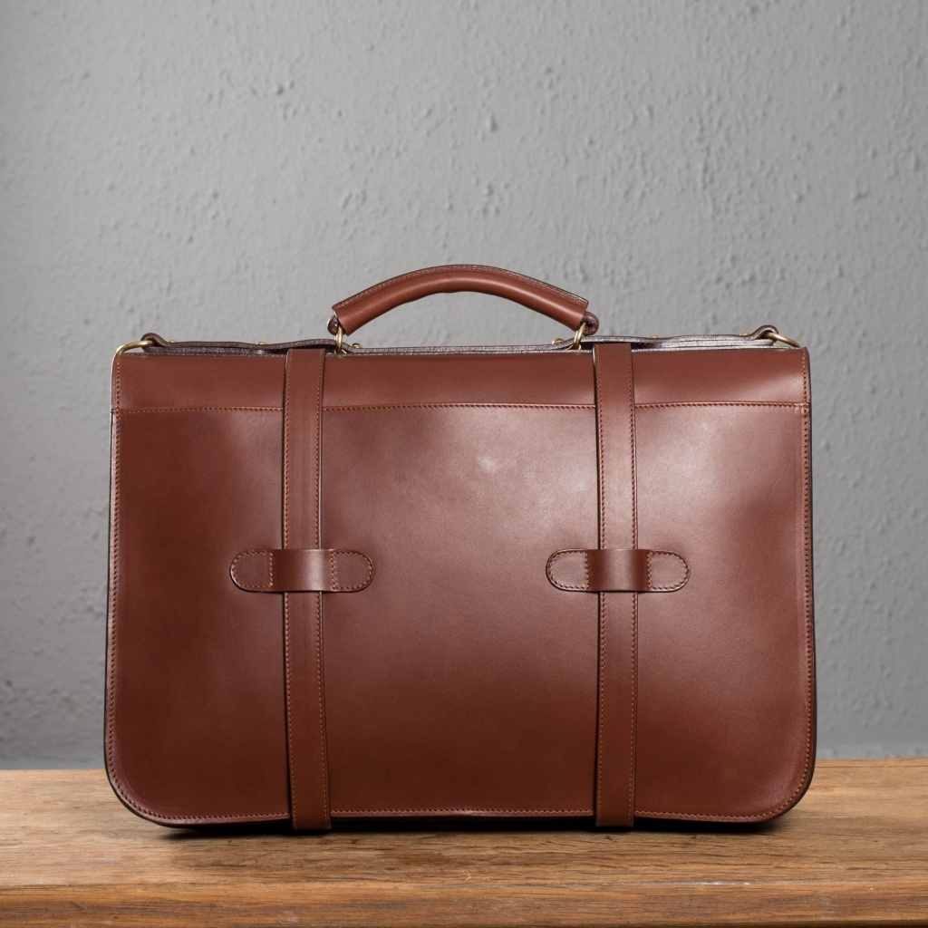 Frank Clegg Chestnut English Briefcase