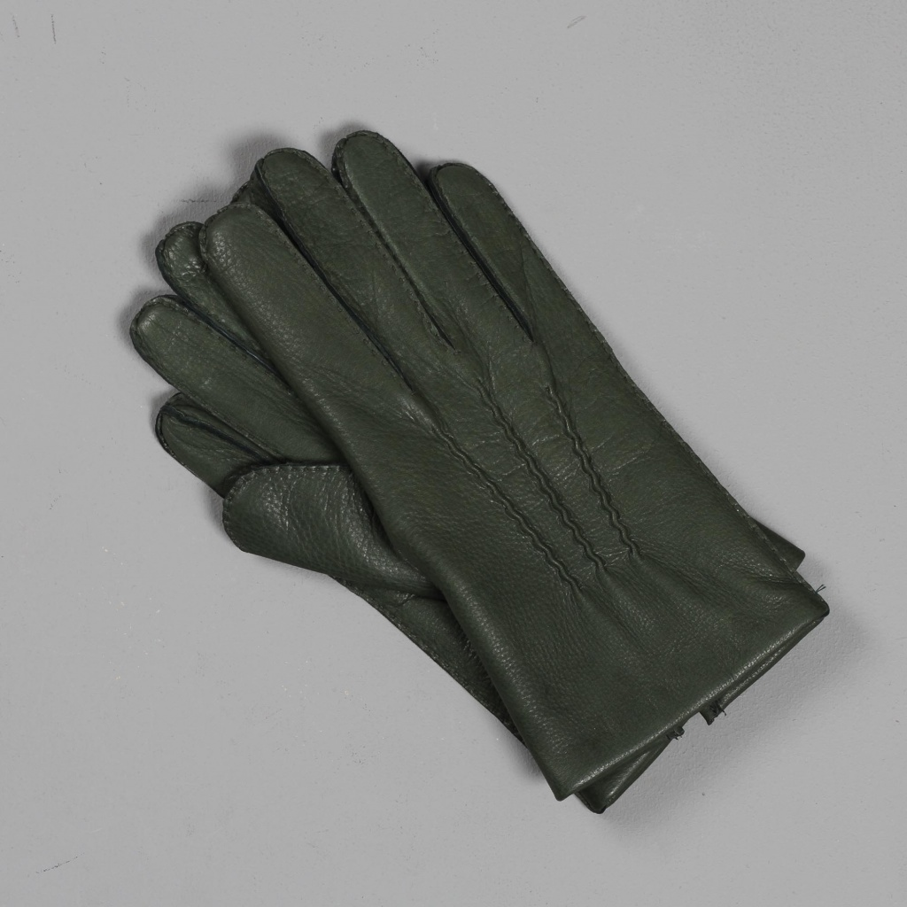 Dents Deerskin Gloves Hunter Green