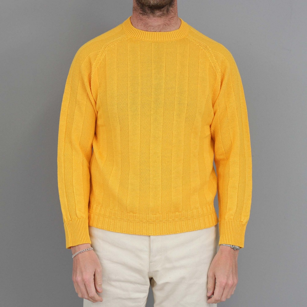 Drake's Knit Summer Seed Jumper Yellow