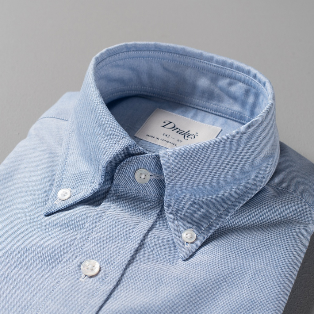 Drake's Shirt Oxford Blue