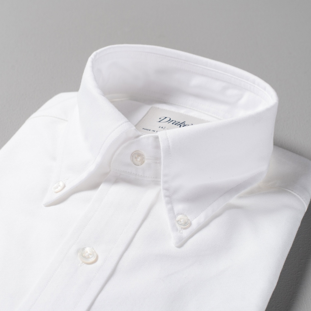 Drake's Shirt Oxford White