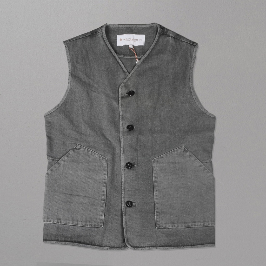 Private White VC Jerkin Vest Grey