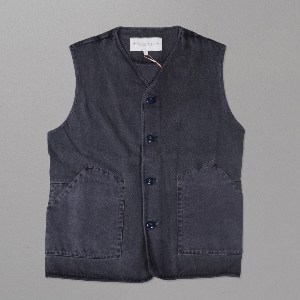 Private White VC Jerkin Vest Navy
