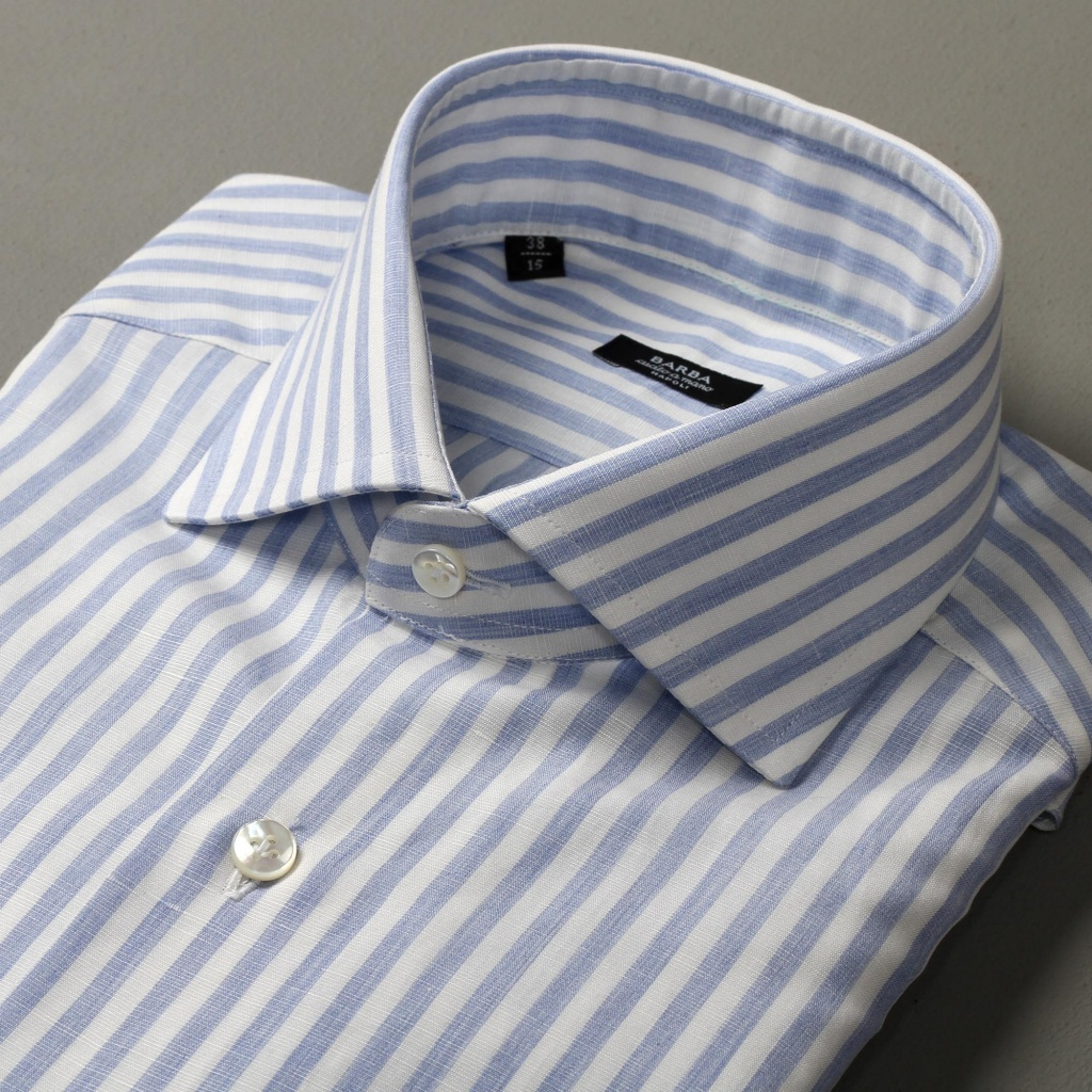 Barba Shirt Wide Stripe Cotton