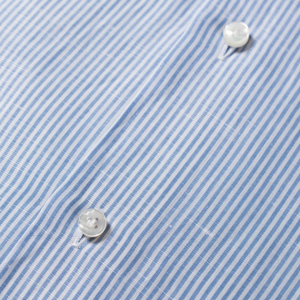 Barba Shirt Thin Stripe Cotton/Linen