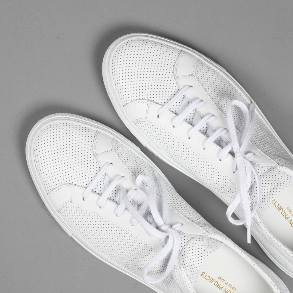 Common Projects Achilles Perforated White Calf