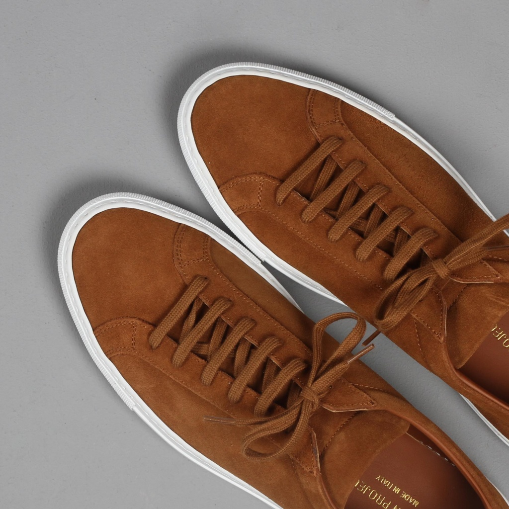 Common Projects Achilles Tan Suede