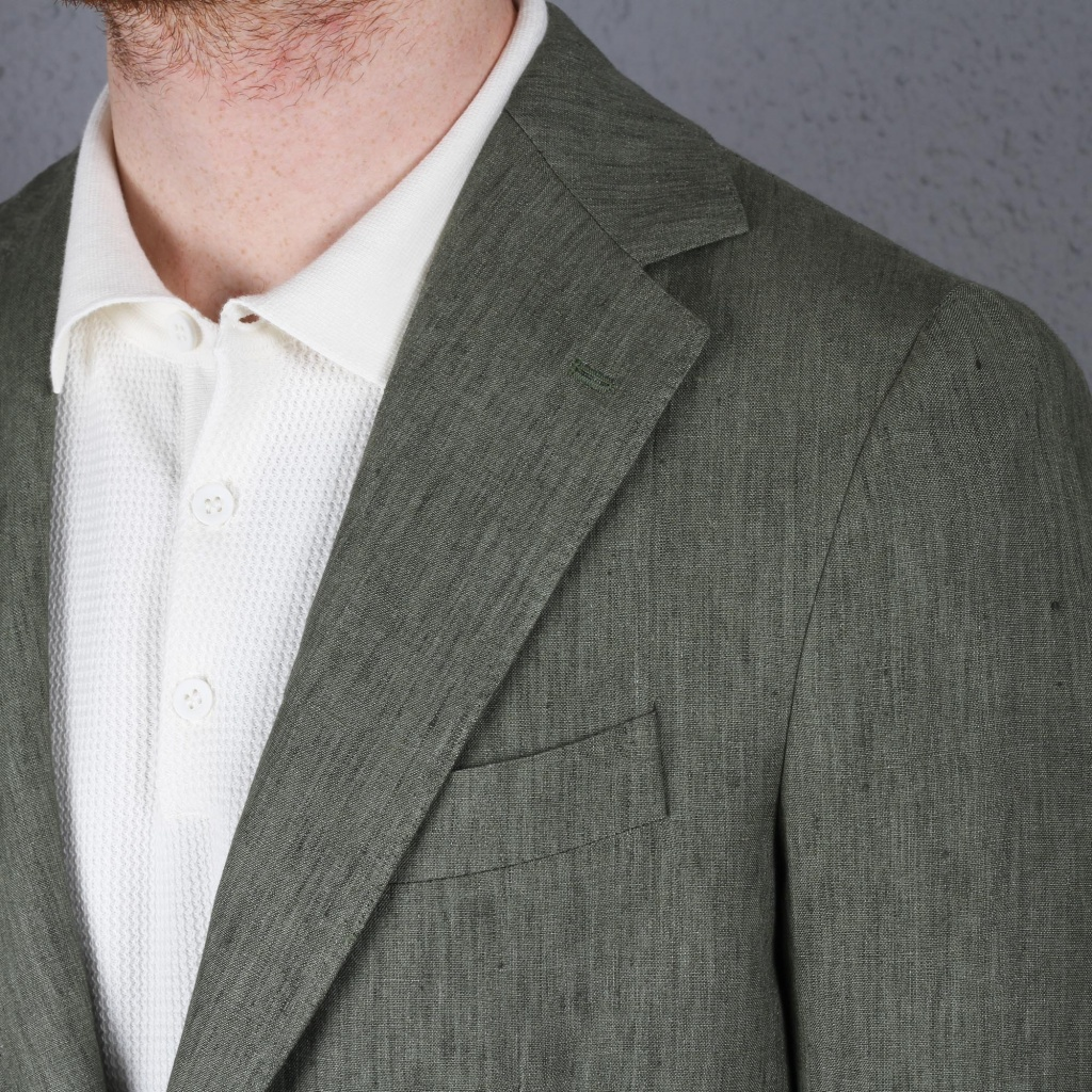 Gaiola Posillipo Jacket Green Linen