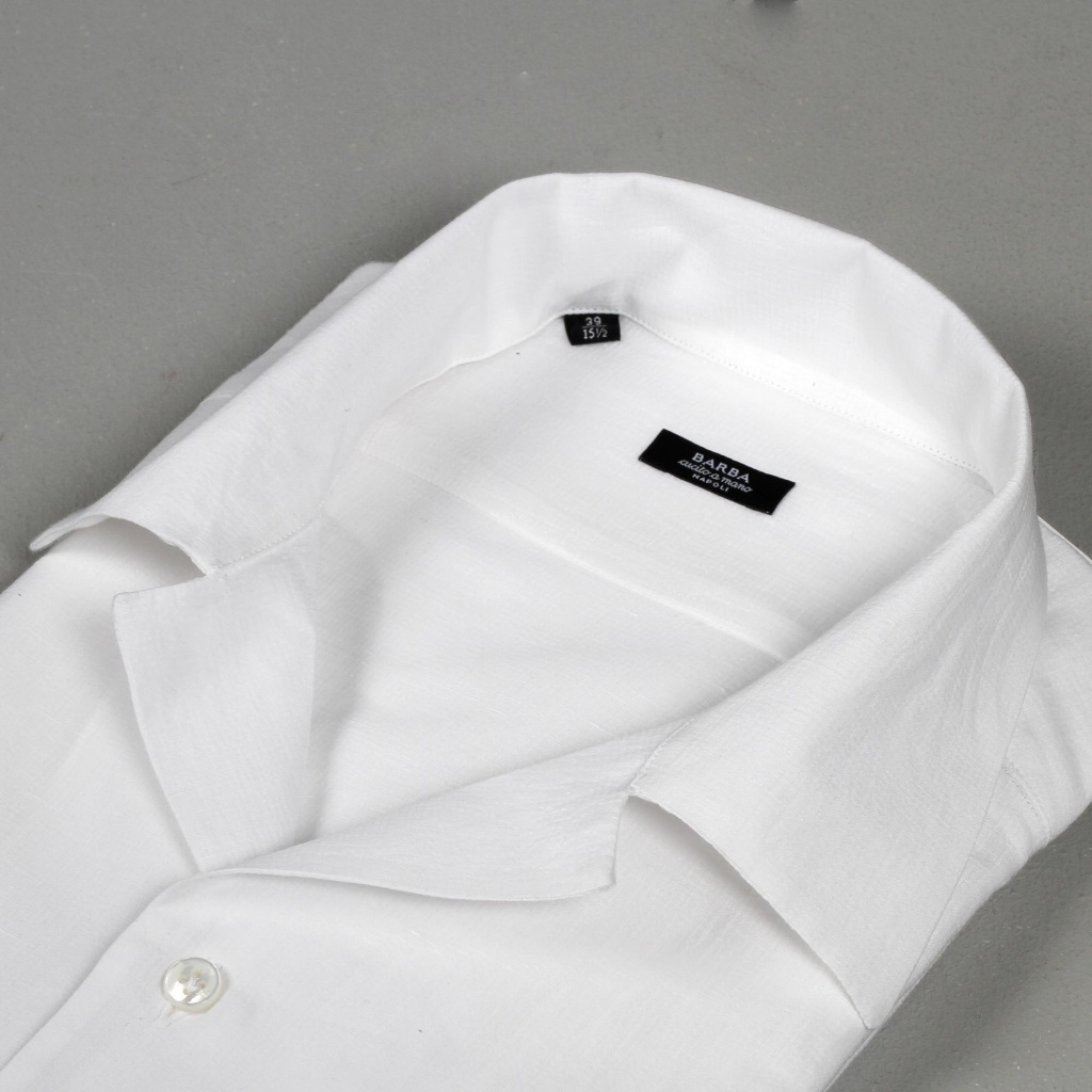 Barba Shirt Crepe Cotton Camp Collar
