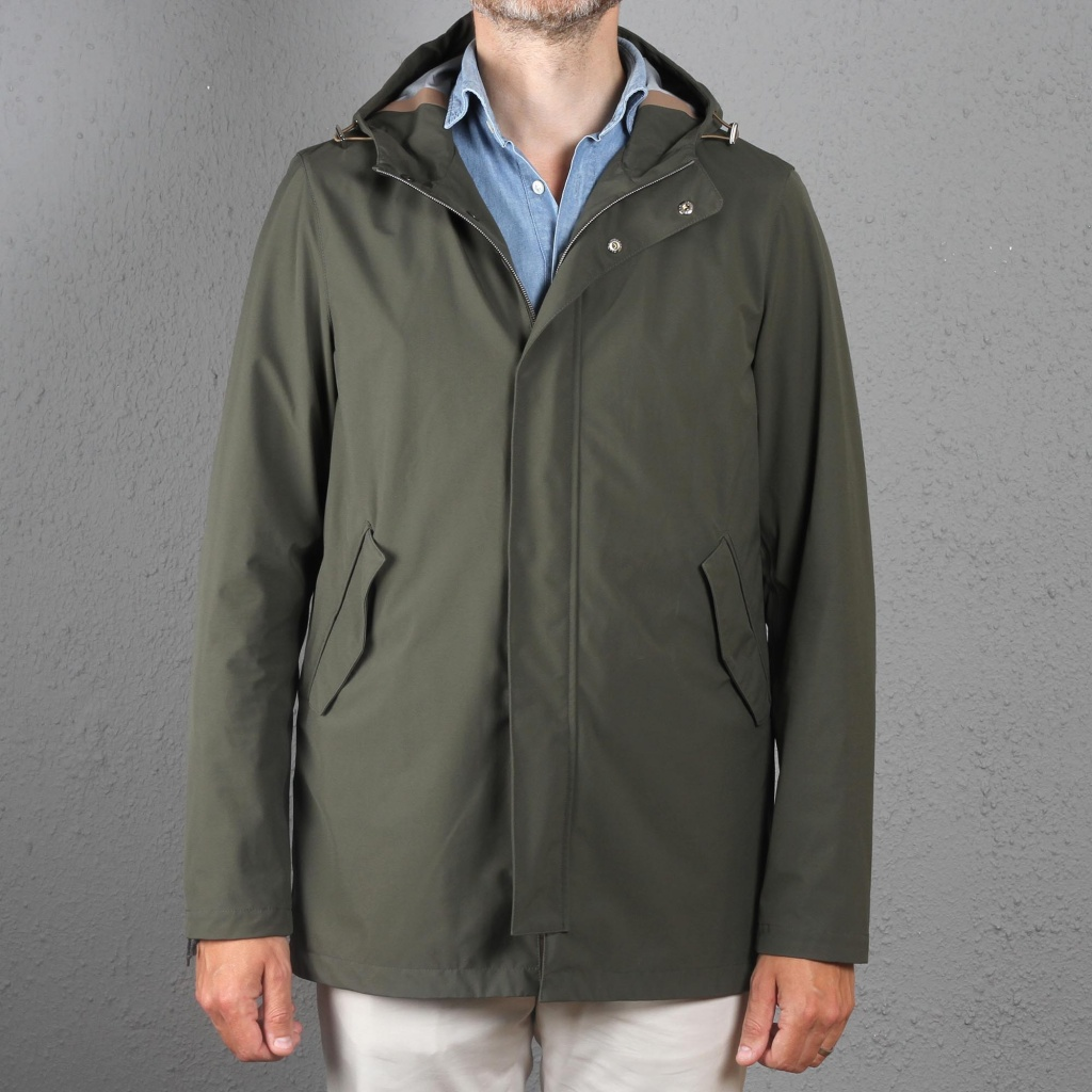 Herno Light Weight Parka Green
