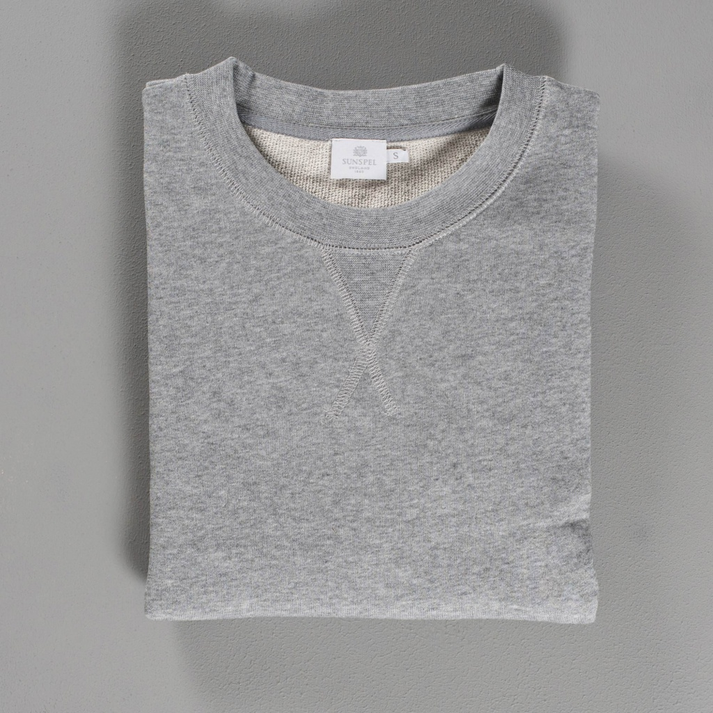 Sunspel Loopback Sweatshirt Grey