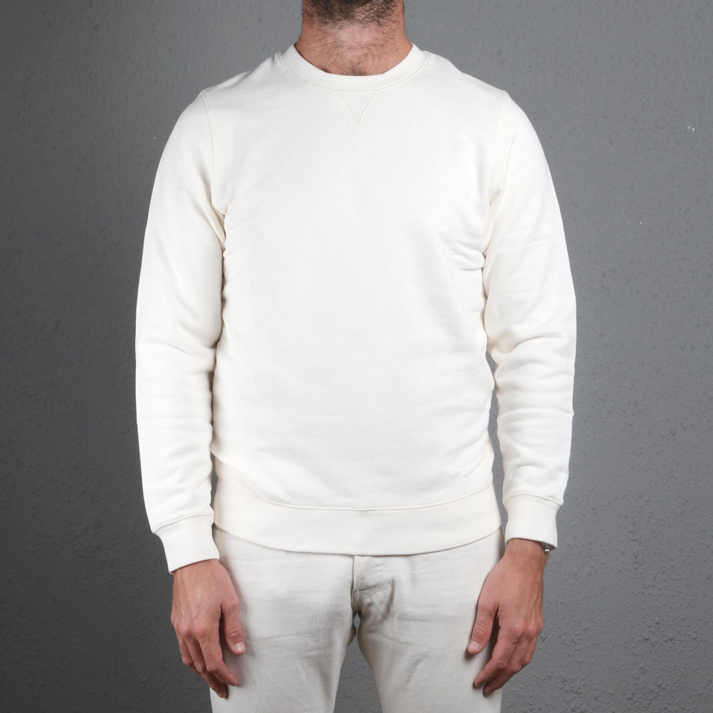 Sunspel Loopback Sweatshirt Archive White