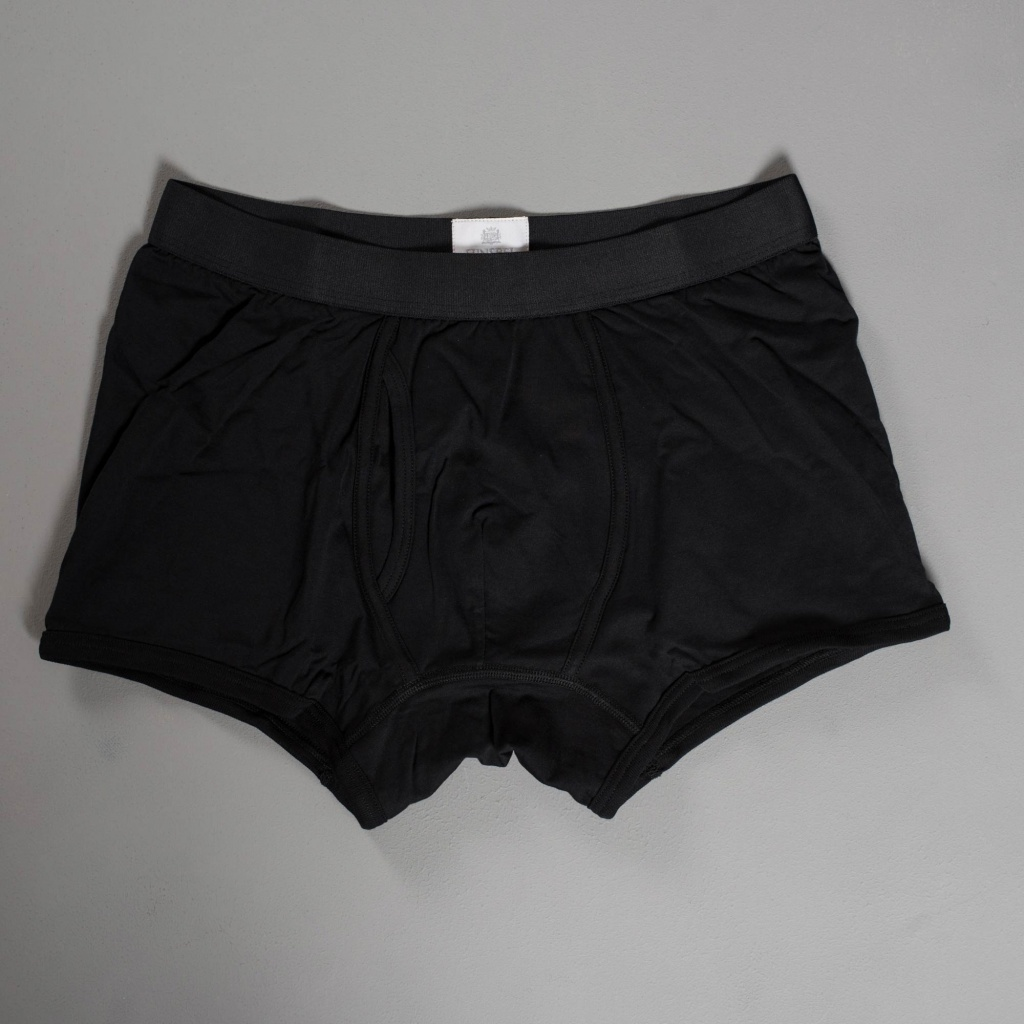 Sunspel Superfine Cotton Trunk Black
