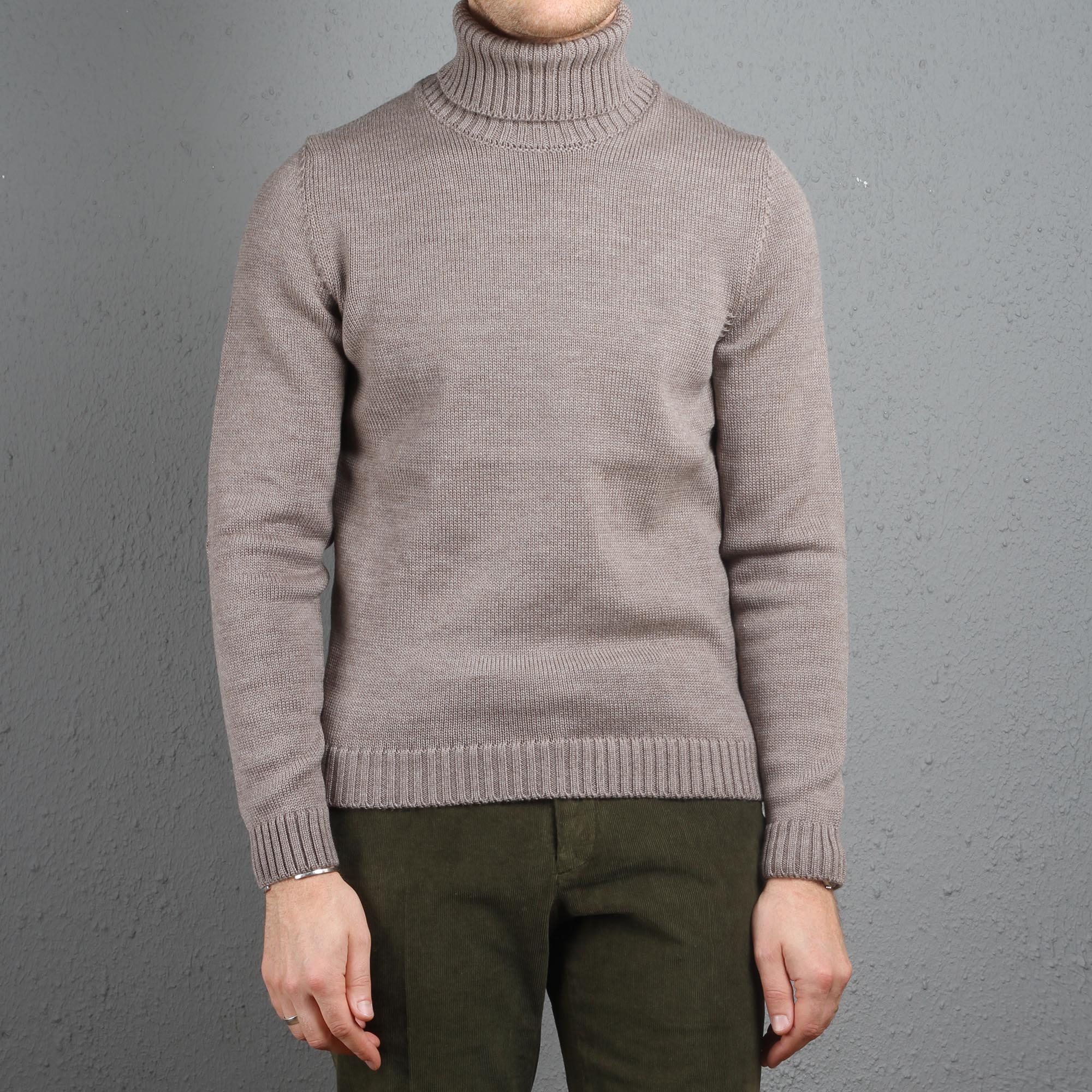 44be90ca8 Zanone Virgin Wool Turtleneck Taupe