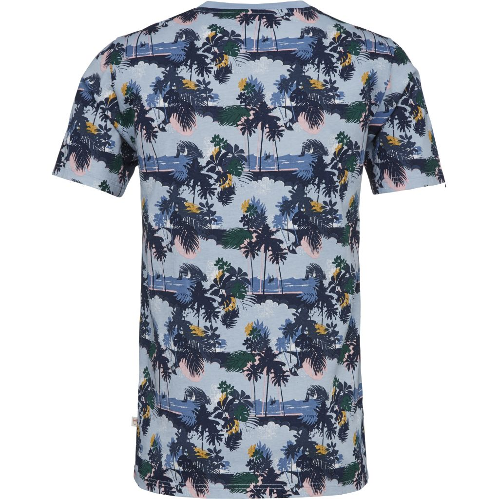 T-shirt With Palm Print - Skyway