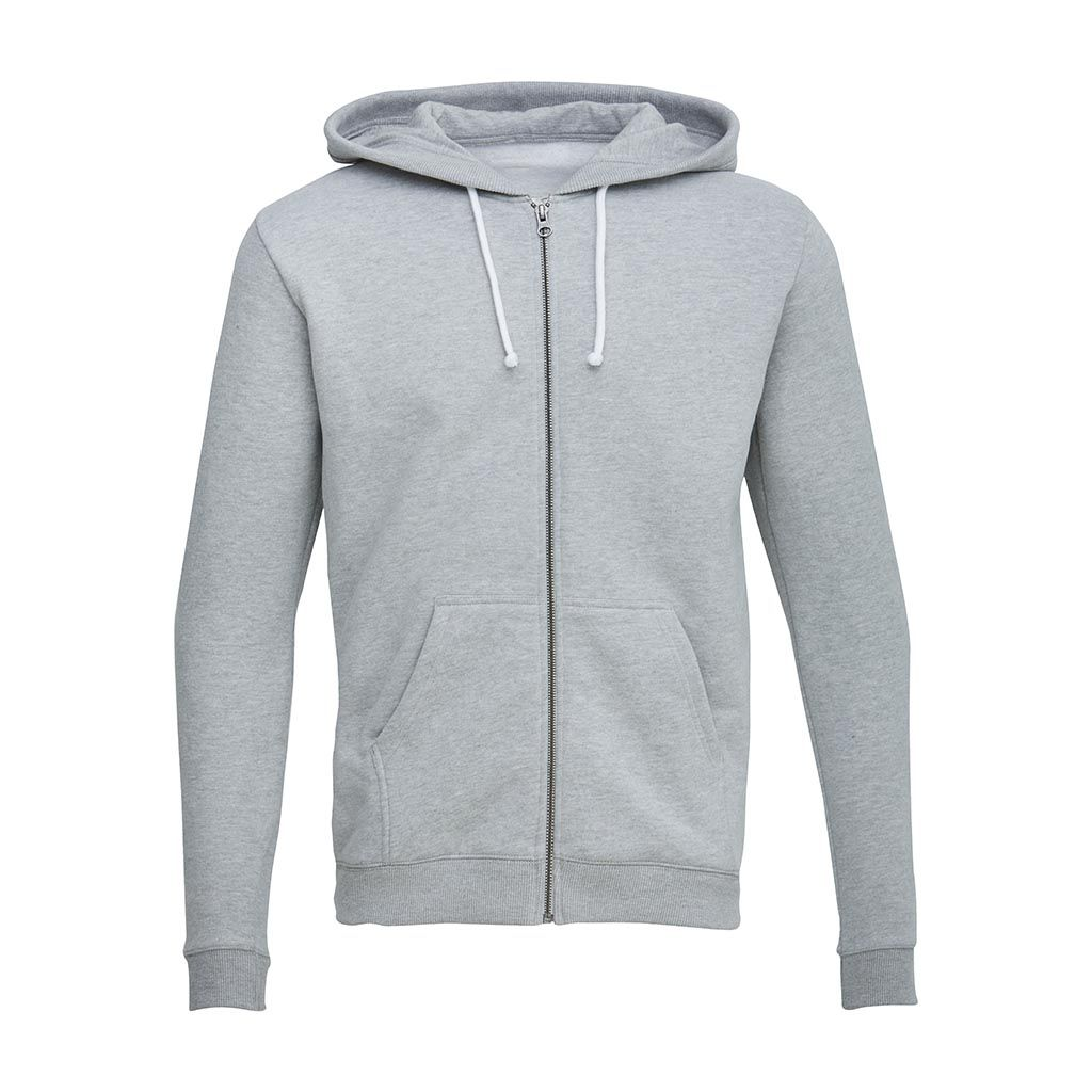 Sweat Hood W/Brushed Backside - Bright Grey Melange