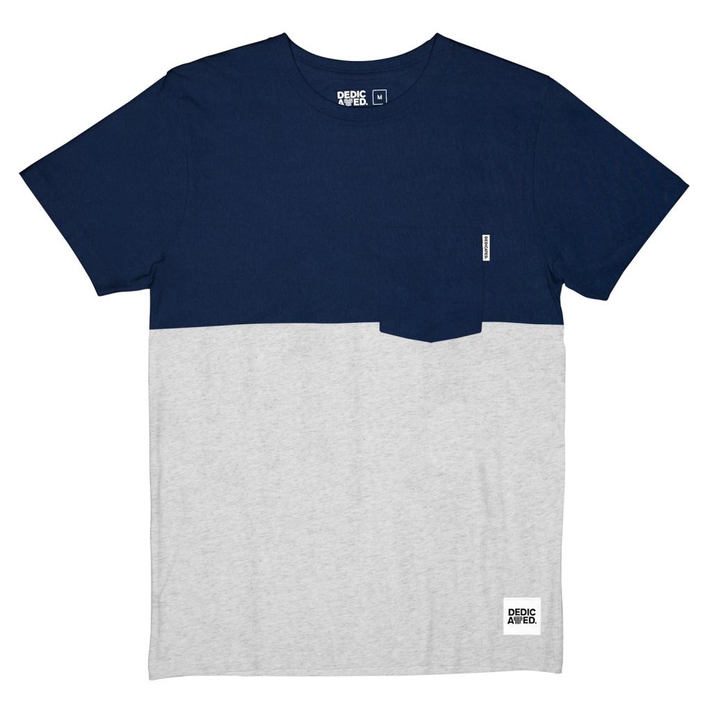 T-Shirt 50-50 - Navy/Grey Melange