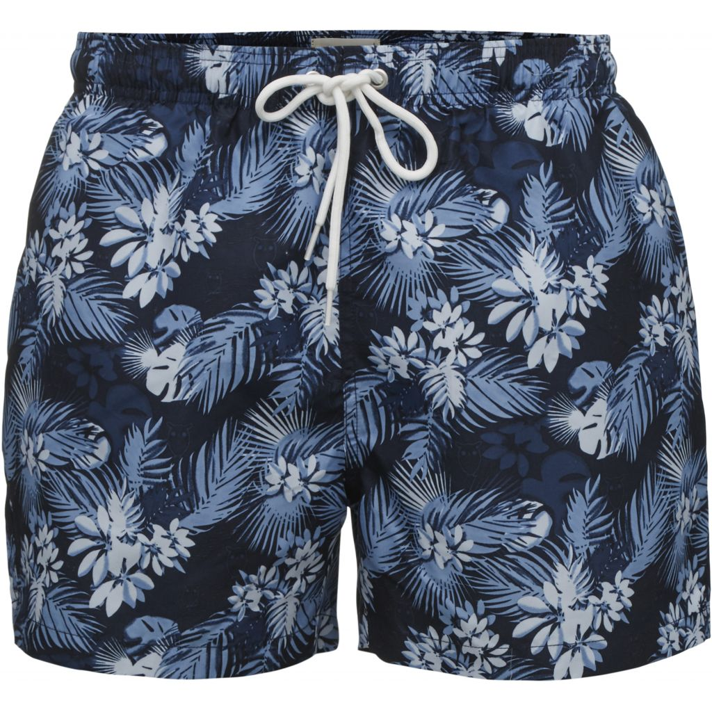 All Over Palm Print Shorts - Total Eclipse