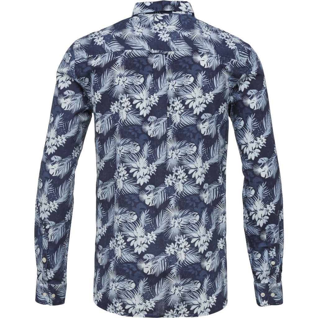 All Over Printed Cotton/linen Shirt