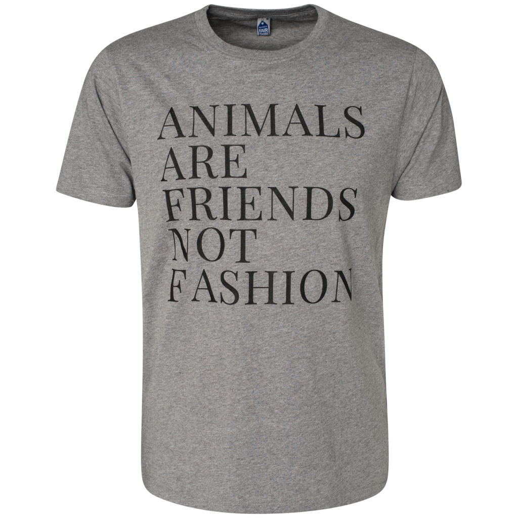 Animals Are Friends Not Fashion Masculine - Grey
