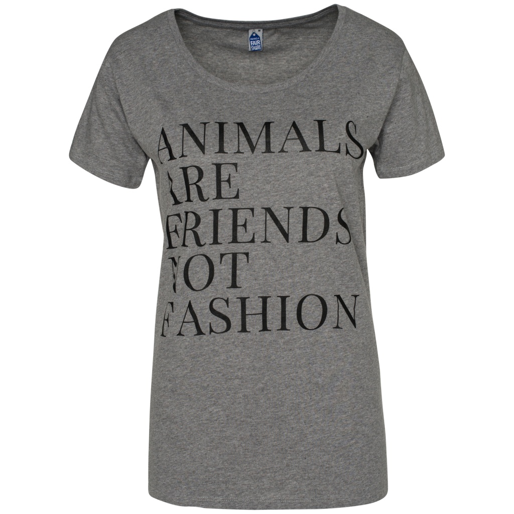 Animals Are Friends Not Fashion Feminine - Grey