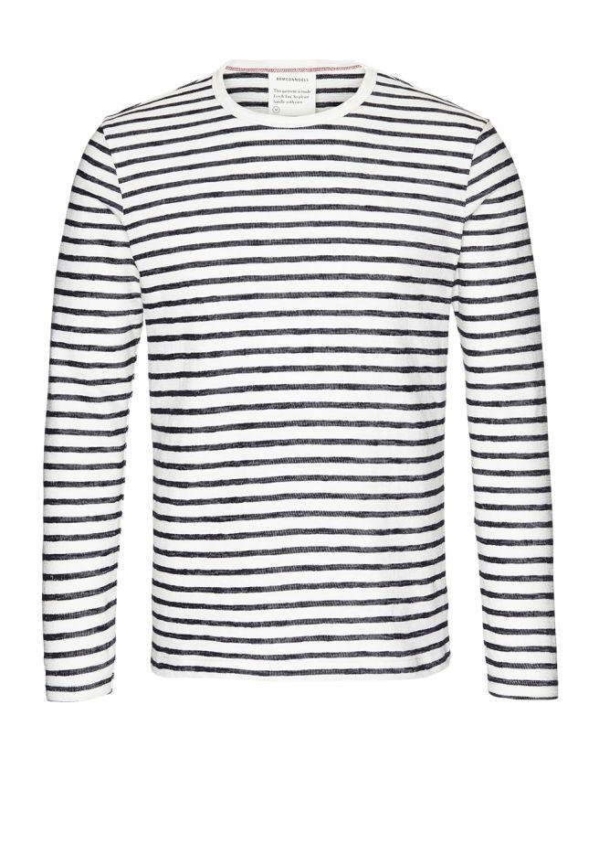 Serge Stripes - Off white/Navy