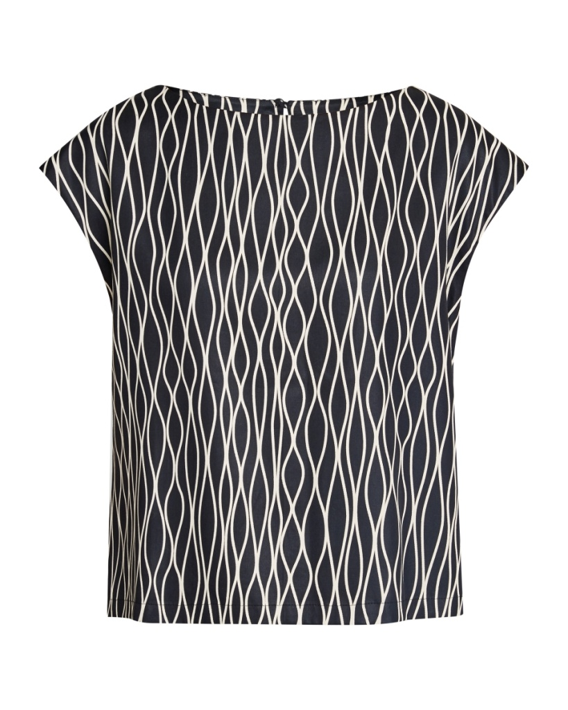 Camas Abstract Top - Black