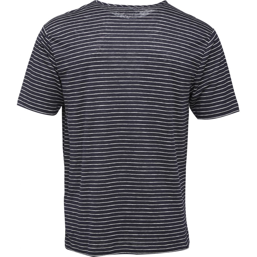 Single Jersey Striped T-shirt - Total Eclipse