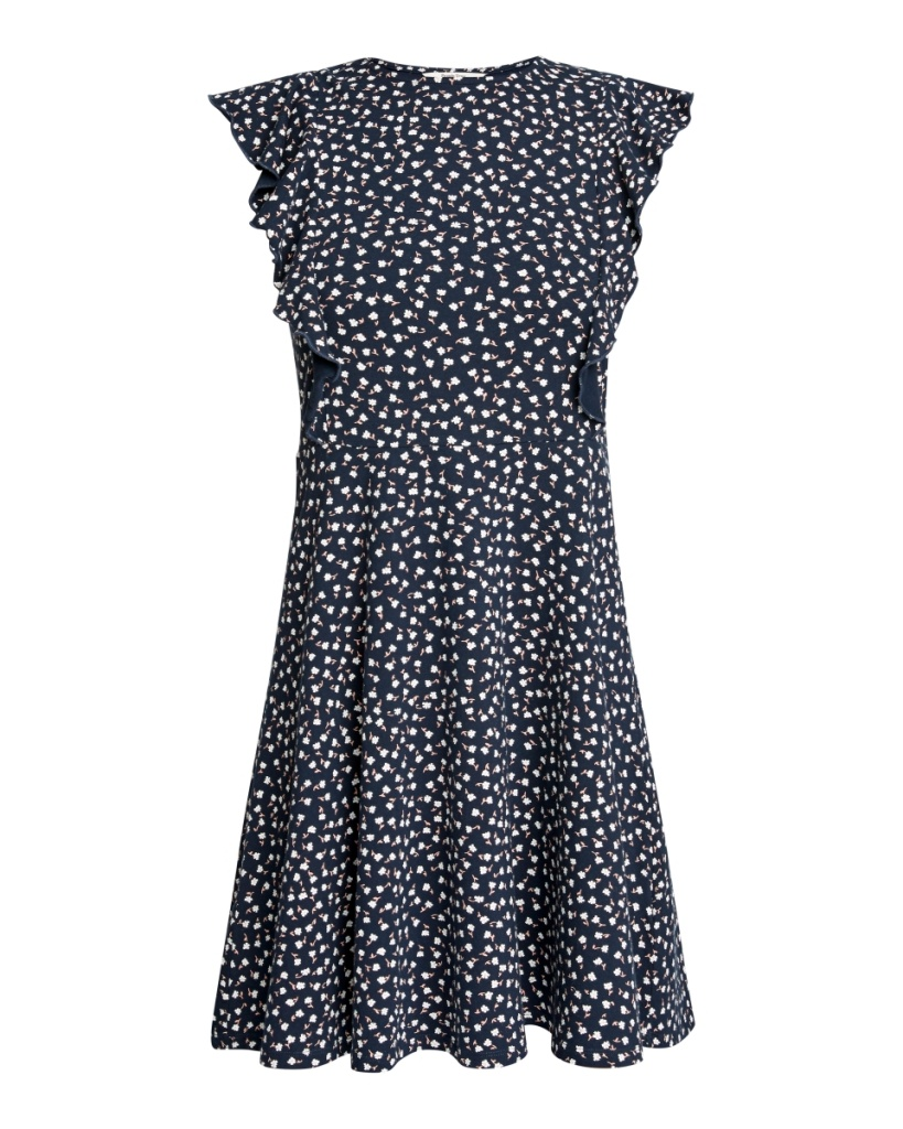 Lulu Floral Dress - Navy