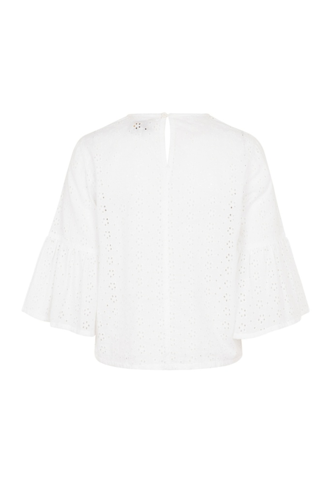 Mary Broderie Top - White