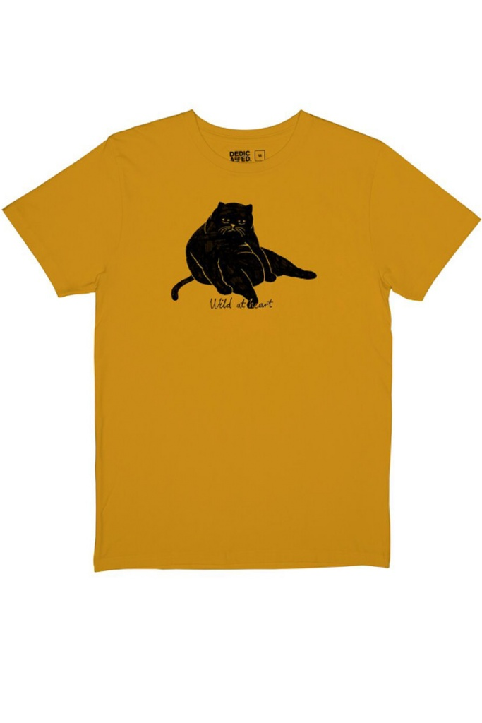 T-shirt Stockholm Wild at Heart - Mustard