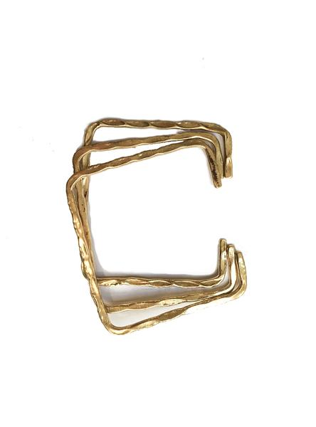 Square Bracelet 3pcs - Brass