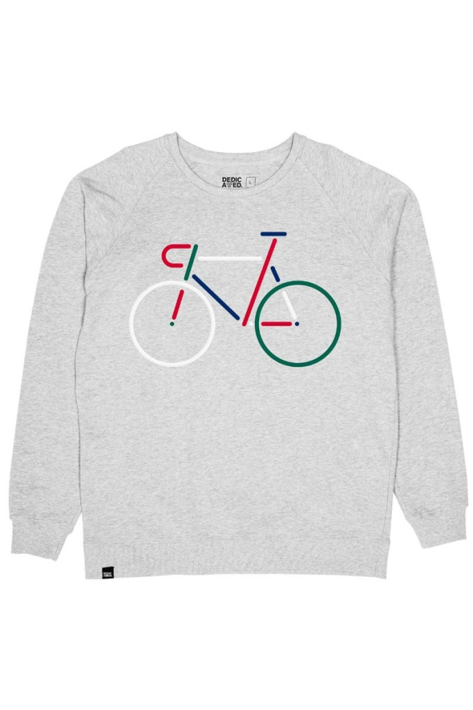 Sweatshirt Malmoe Color Bike Embroidery - Grey Melange