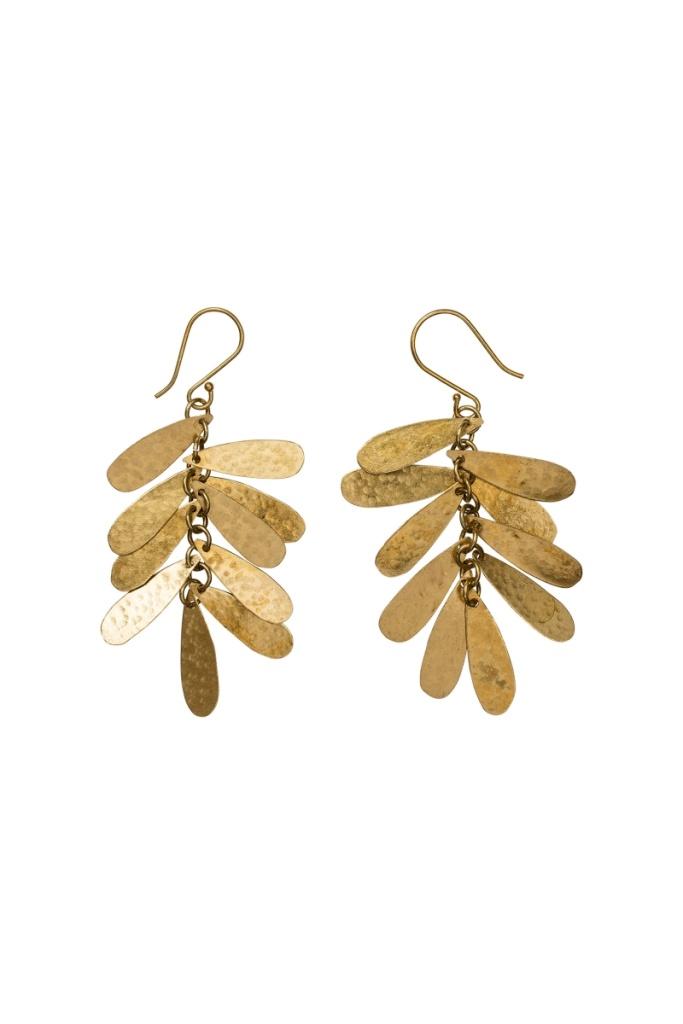 Teardrop Earrings - Brass