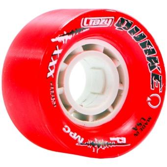 CrazySkates 63mm 88A Quake Red