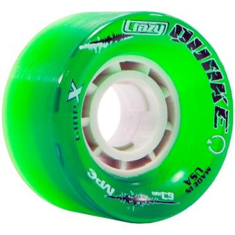 CrazySkates 63mm 96A Quake Green
