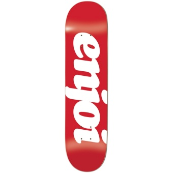 Enjoi 7.75 Flocked Red HYB deck