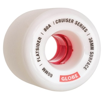 Globe Flatsider 60mm 80A White Wheels