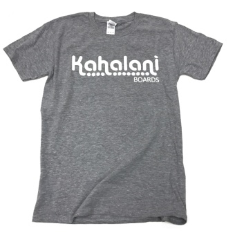 Kahalani t-shirt logo Heather Grey
